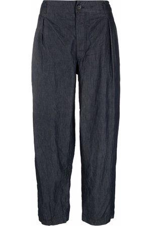 Comme Des Garçons Shirt Crinkled wide leg trousers