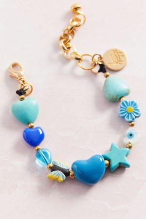 Venessa Arizaga Icy Heart Charm Bracelet
