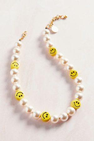 Venessa Arizaga Sunshine Smile Pearl Necklace