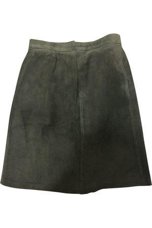 Hermès Leather mini skirt