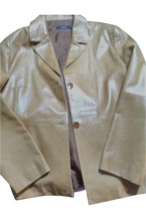 Cortefiel Leather short vest