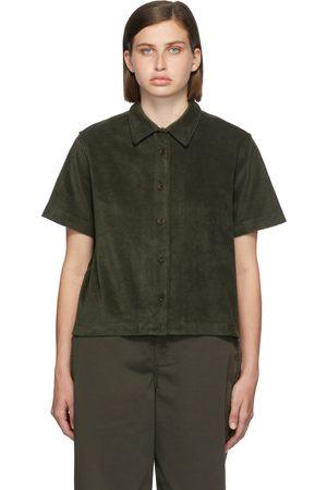 YMC Green Terrycloth Vegas Short Sleeve Shirt