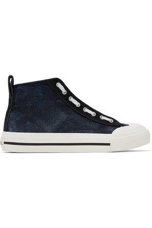 Diesel Blue & Black S-Astico Mzip Sneakers