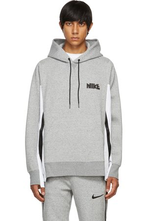 Nike Men Hoodies - Grey Sacai Edition Jersey Hoodie