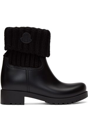 Moncler Black Knit Ginette Boots