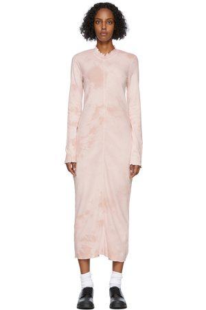 RAQUEL ALLEGRA Pink Tie-Dye Long Sleeve Fitted Dress