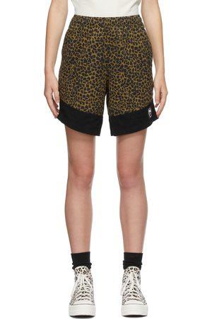 Brain Dead Black & Leopard Dress Shorts