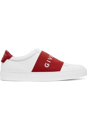 Givenchy White & Red Elastic Urban Knots Sneakers
