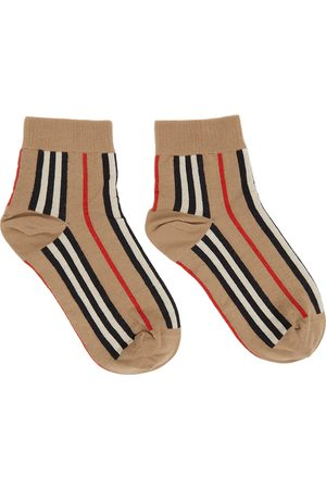 Burberry Beige Intarsia Ankle Socks