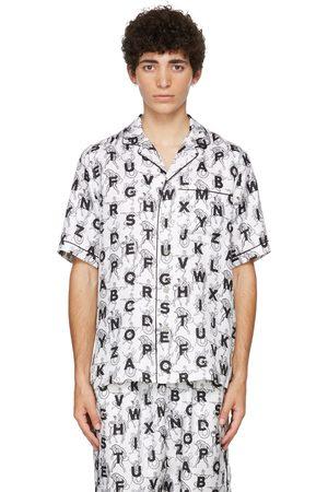 Burberry Men Short sleeves - SSENSE Exclusive White Mythical Alphabet Silk Short Sleeve Shirt