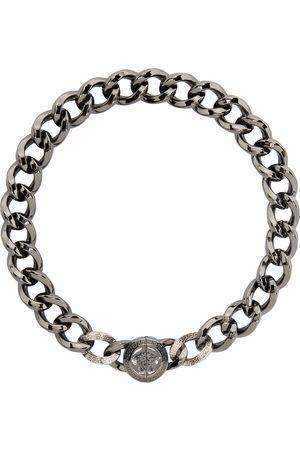 VERSACE Gunmetal Medusa Chain Necklace