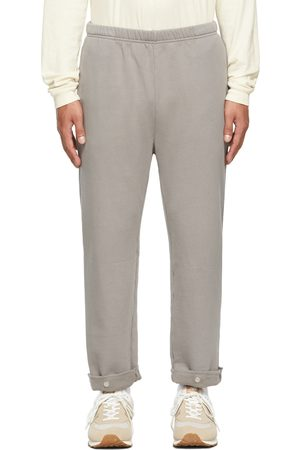 Les Tien Grey Snap Front Lounge Pants