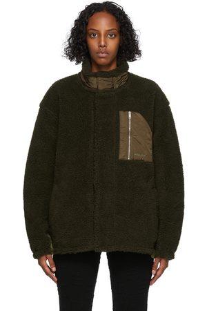 AMBUSH Green Fleece Zip Jacket