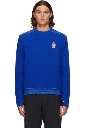 Moncler Blue Maglia Sweatshirt