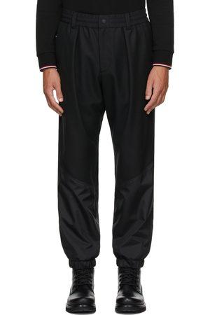 Moncler Black Wool Paneled Pants