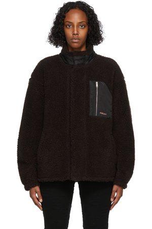 AMBUSH Brown & Beige Fleece Zip Jacket