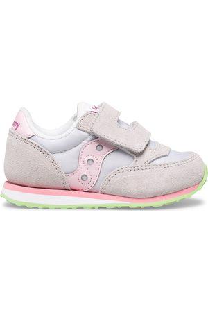 Saucony Baby Jazz Hook & Loop Sneaker GreyPinkGreen