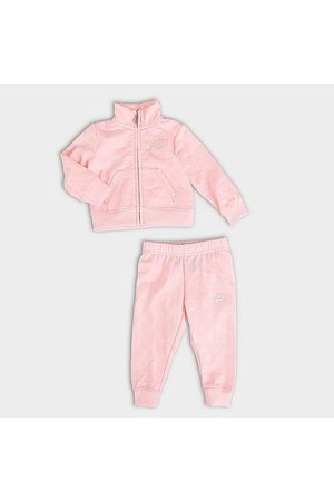 Nike Girls' Infant Debossed Futura Tricot Track Jacket and Joggers Set Size 12 Month Polyester