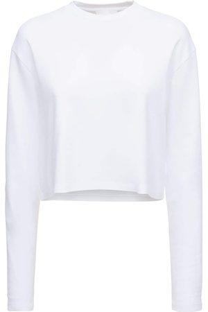 WARDROBE.NYC Bonded Stretch Cotton L/s Crop T-shirt