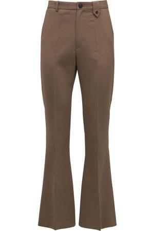 EGONLAB Flared Wool Blend Pants