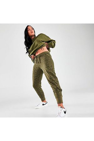 Nike Women's Dri-FIT Get Fit Leopard Print Training Joggers Size X-Small Cotton/Polyester