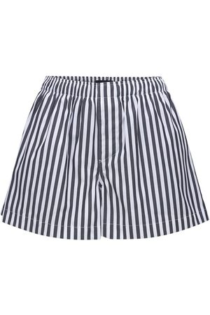WARDROBE.NYC Striped Cotton Poplin Boxer Shorts