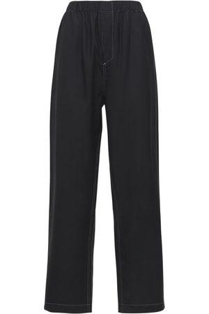 WARDROBE.NYC Pajama Silk Straight Pants