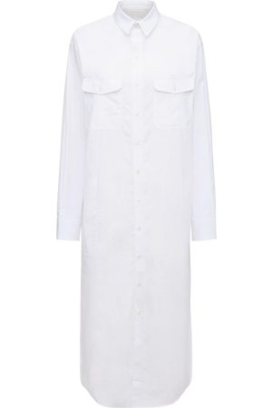 WARDROBE.NYC Cotton Poplin Midi Shirt Dress