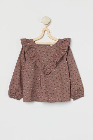 H & M Flounced Cotton Blouse