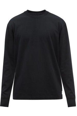 Reigning Champ Men Long Sleeve - Logo-patch Cotton-jersey Long-sleeved T-shirt - Mens