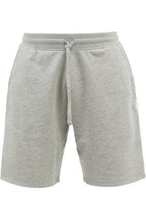 Reigning Champ Logo-patch Cotton-terry Shorts - Mens - Grey