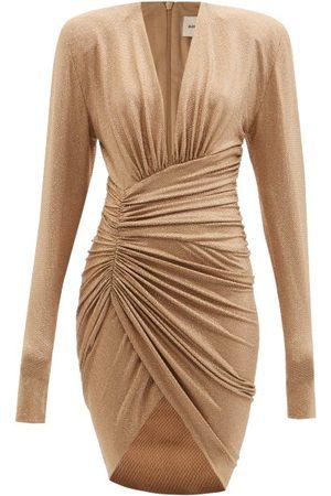 Alexandre Vauthier Crystal-embellished Plunge-neck Jersey Dress - Womens