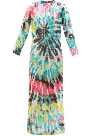 ASHISH Women Maxi Dresses - Tie-dye Sequinned Maxi Dress - Womens - Multi