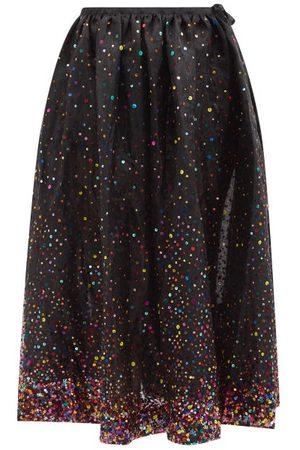 Ashish Sequinned-tulle Midi Skirt - Womens - Multi