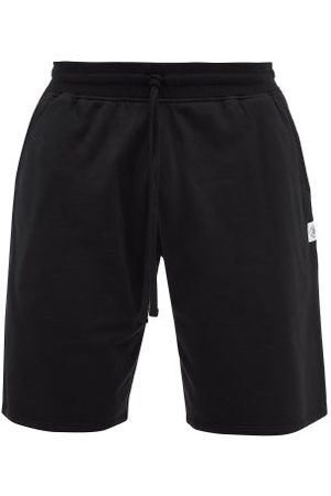 Reigning Champ Men Sports Shorts - Logo-patch Cotton-terry Shorts - Mens