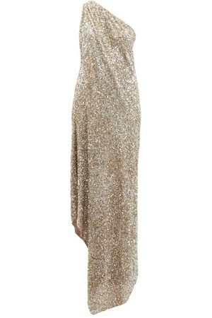 ASHISH One-shoulder Sequinned Gown - Womens