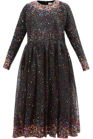 ASHISH Long-sleeve Ombré-sequinned Organza Midi Dress - Womens - Multi