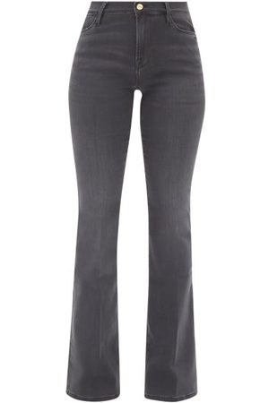 Frame Le High Flare Jeans - Womens - Grey