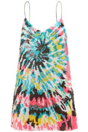 Ashish Tie Dye-sequinned Georgette Mini Dress - Womens - Multi