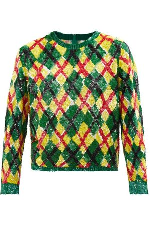 Ashish Women Tops - Argyle-sequinned Georgette Top - Womens - Multi