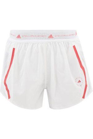 Adidas By Stella Mccartney Truepace Mesh-insert Recycled Fibre-blend Shorts - Womens