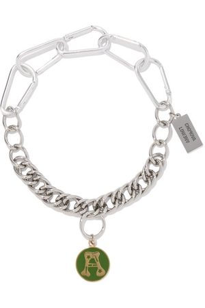 Chopova Lowena Alphabet Stainless-steel A-m Necklace - Womens - Multi