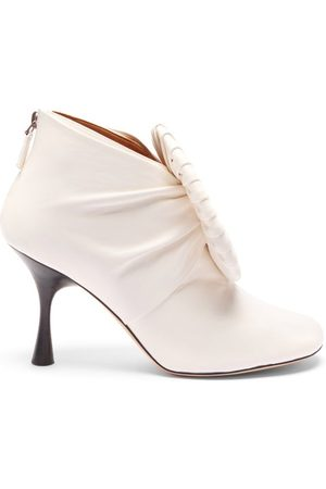 Loewe Pleated-buckle Leather Ankle Boots - Womens