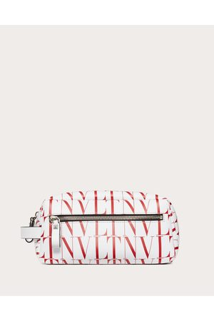 VALENTINO GARAVANI UOMO Men Bags - Vltn Times Wash Bag Man Optic /pure 100% Pelle Bovina - Bos Taurus OneSize