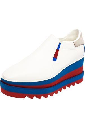 Stella McCartney Faux Leather Elyse Platform Slip On Sneakers Size 40