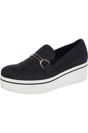 Stella McCartney Lurex Fabric Binx Platform Slip On Sneakers Size 40