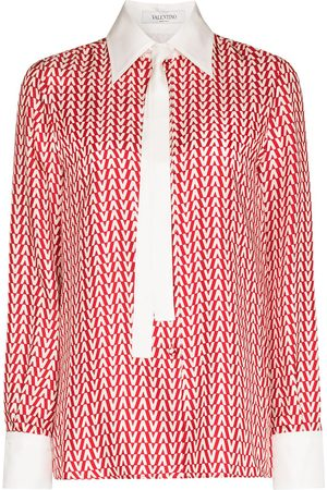 Valentino Monogram print silk shirt