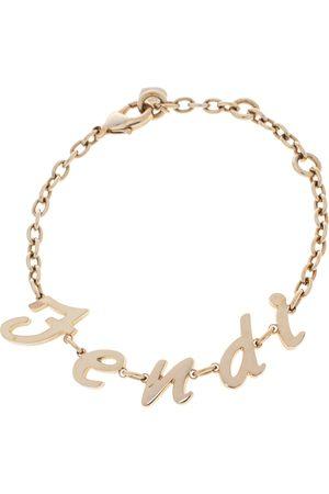 Fendi Tone Logo Charm Bracelet
