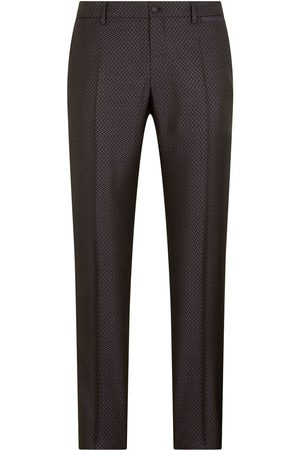Dolce & Gabbana Men Formal Pants - Jacquard tailored trousers