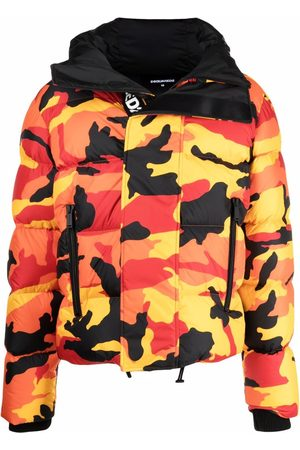 Dsquared2 Men Puffer Jackets - Camouflage-print puffer coat
